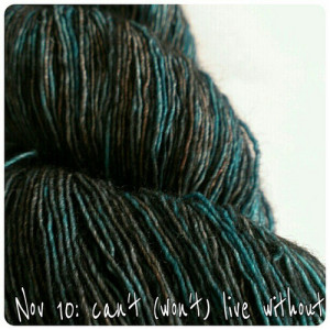 Nov 10: can't (won't) live without #yarn #art #creativity #fmsphotoaday