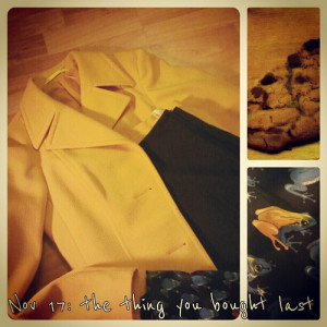 Nov 17: the thing you bought last #fmsphotoaday #lastthing #yellow #vintage