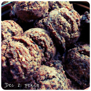 Dec 2: peace #selfmade #fresh #cookies and the smell they leave around the house #fmsphotoaday