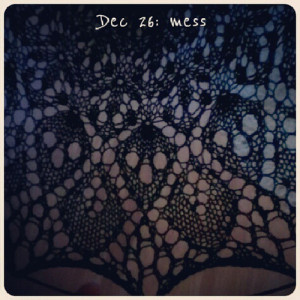 Dec 26: mess {or no mess?} #fmsphotoaday #knitting #knits #lace
