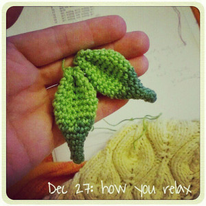 Dec 27: how you relax .. with #crochet or #knitting .. #fmsphotoaday