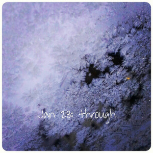 Jan 28: through .. made it #through #winter .. looking through #iceflowers on the #windscreen .. #fmsphotoaday
