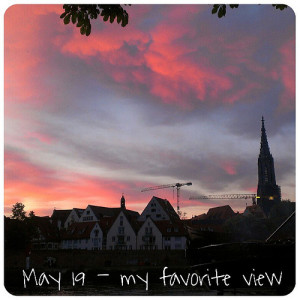 May 19: my favorite view .. #sunset .. #fmsphotoaday